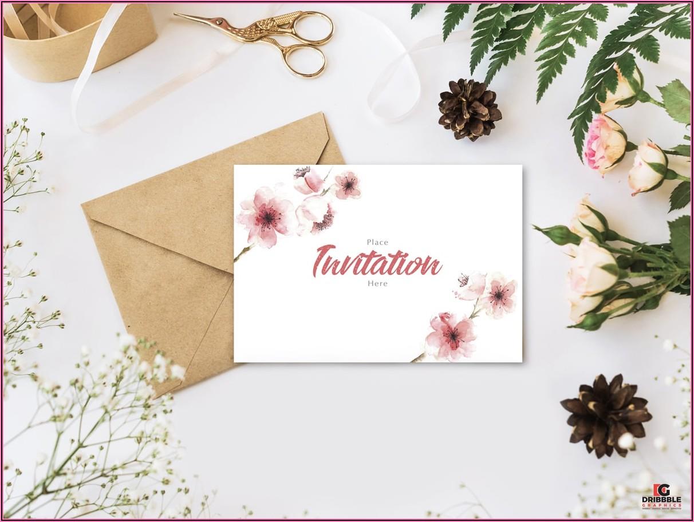 Wedding Invitation Card Mockup Free Download