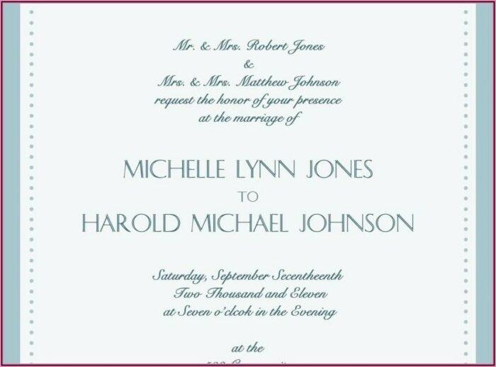 Wedding Invitation Wording Bride And Groom Hosting