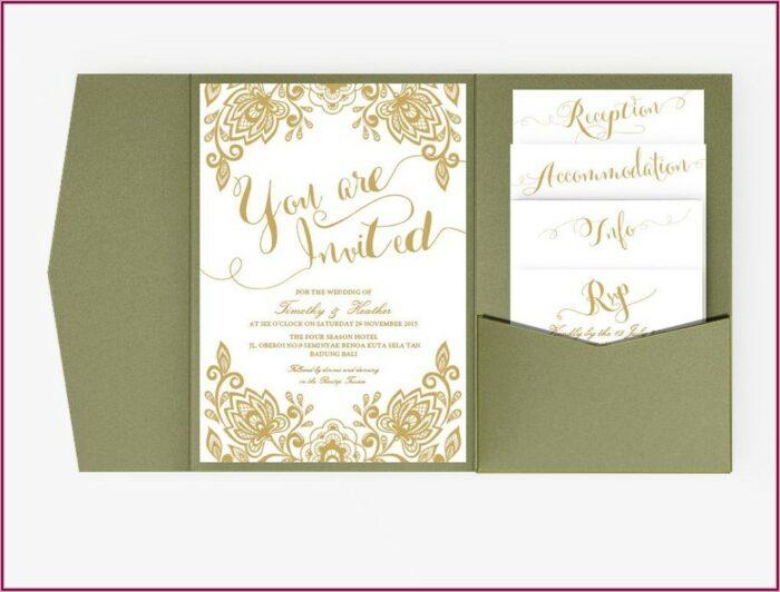 White And Gold Wedding Invitation Templates