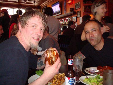 Burgers at Kuma's Corner, Chicago