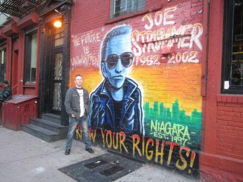 Joe Strummer mural New York City