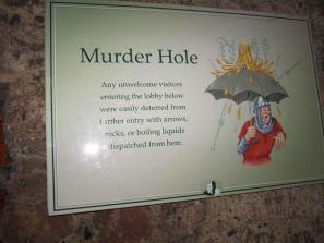 murder hole Blarney Castle Ireland