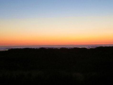Fall sunset Grayland