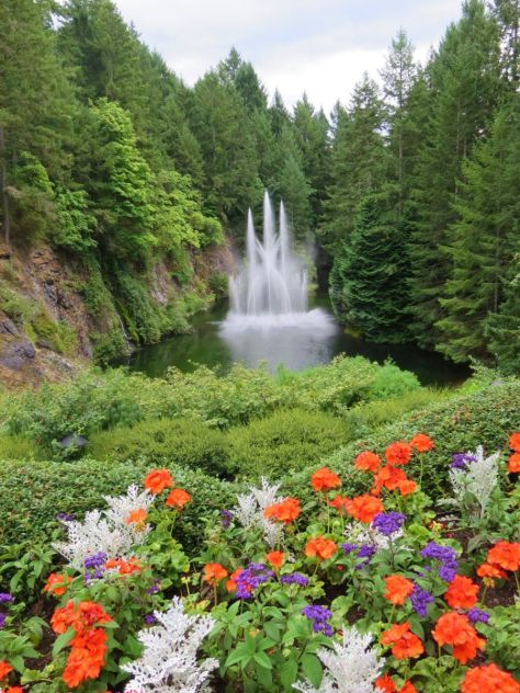 Ross Fountain Butchart Gardens Victoria BC