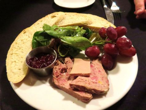 Vin Du Lac Winery Chelan Duck and pheasant pate