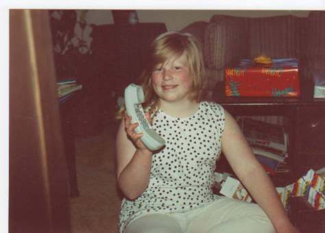 1991-Getting my VERY OWN PHONE for my birthday