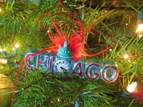 our lives in ornaments Chicago Christmas ornament