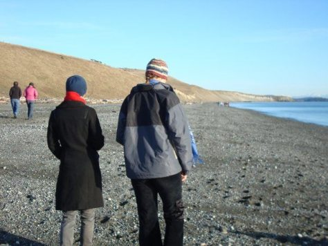 Christmas Day walk on South Beach San Juan Island