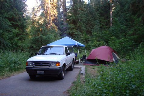 Camping at Sol Duc Campground Olympic National Park
