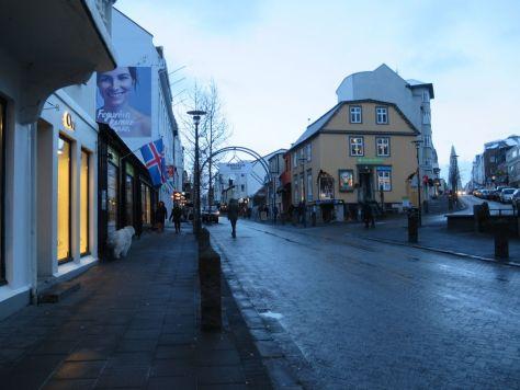 Laugavegur street Reykjavik Iceland