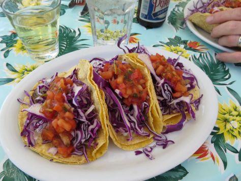 Ahi tacos at Bucky's Lopez Island Grill