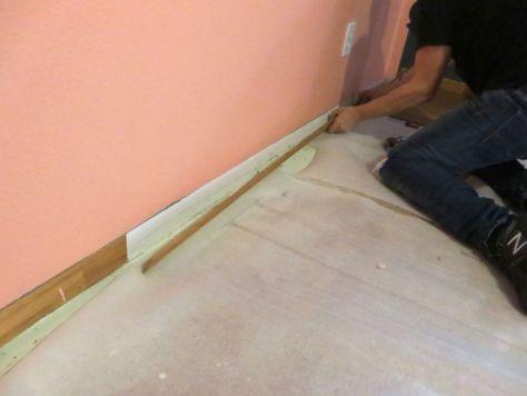 installing laminate flooring removing siding