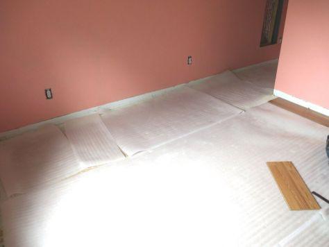 installing laminate flooring foam underlay