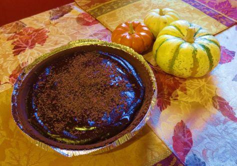 Mexican chocolate pumpkin pie