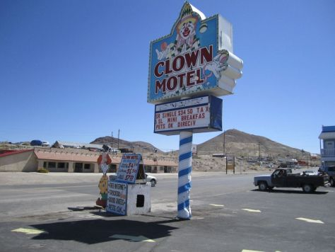Weird things we saw in Nevada: The Clown Motel in Tonopah