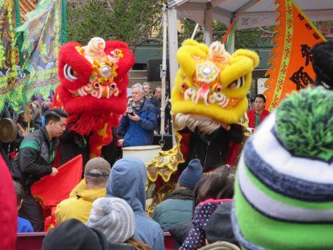 Lion Dances Seattle Lunar New Year celebration
