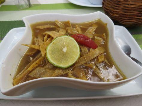 Sopa de lima, El Atrio del Mayab restaurant Valladolid