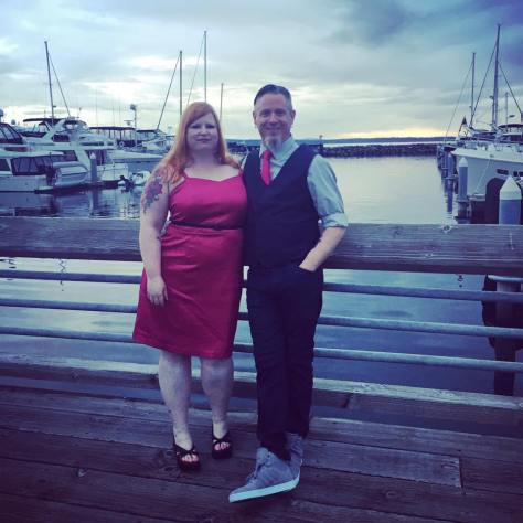 All dolled up for a wedding at the Edmonds Yacht Club