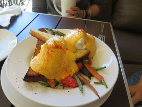 Vegetable Benedict, Olive Marketplace, Walla Walla