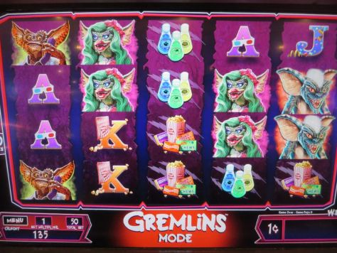 Gremlins slot machine at the Golden Nugget Casino