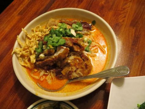 Crispy Duck Khao Soi at Lotus of Siam