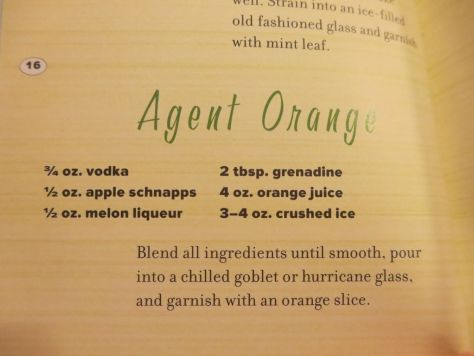 Agent Orange cocktail recipe