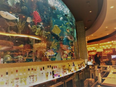 Chart House fish tank bar, Golden Nugget