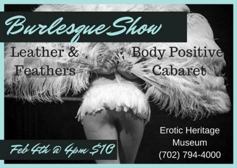 Leather and Feathers body positive burlesque Las Vegas Leather and Feathers body positive burlesque Las Vegas https://www.facebook.com/Leather.N.Feathers.Burlesque/