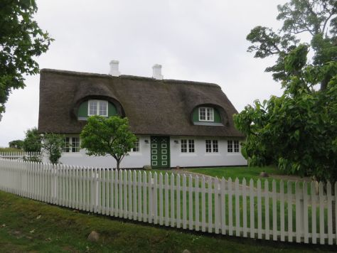 Traditional grass-roof house in Sønderho, Fanø Denmark