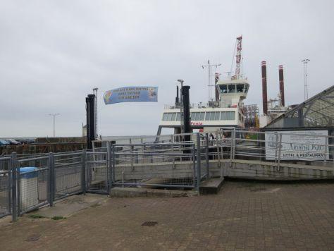 Fanø ferry departing Esbjerg Denmark