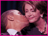 Obama kisses Pelosi