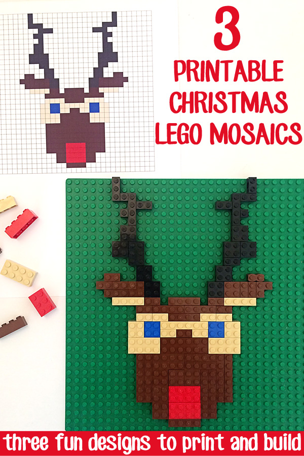 Lego Mosaics For Kids 3 Printable Christmas Building