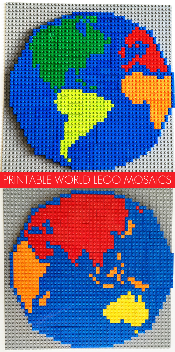 Lego Activity Ideas  World Mosaic Patterns Printable World Lego Mosaic Patterns  Create your very own Lego world map  with this printable