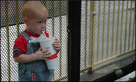 Child with Large Soft Drink