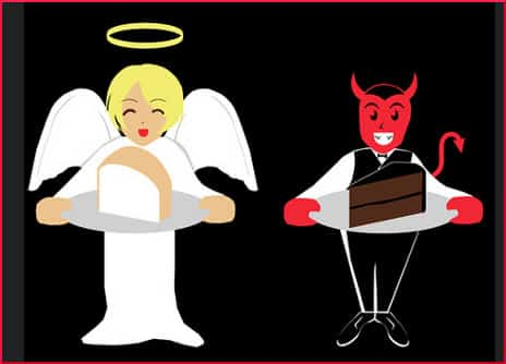 Angel's and Devil's Food Cake