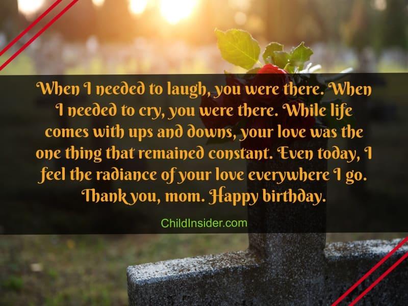 81 Heartfelt Happy Birthday Mom In Heaven Quotes