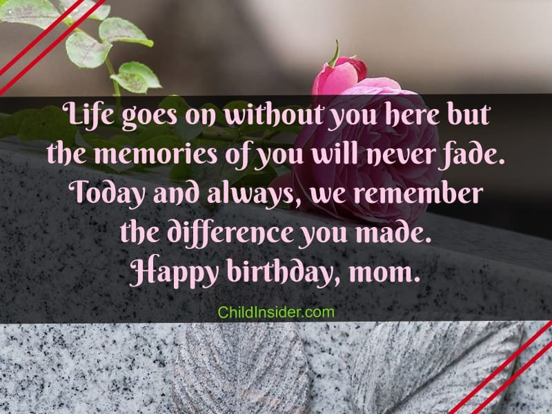 Quotes Mom Birthday My Heaven Happy
