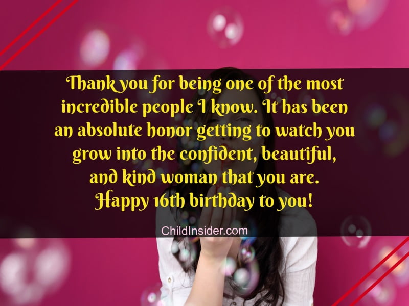 31 Happy 16th Birthday Messages For A Special Girl