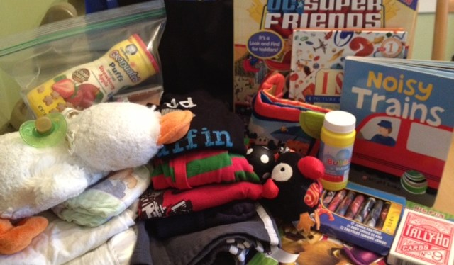 How to pack a children's emergency go bag