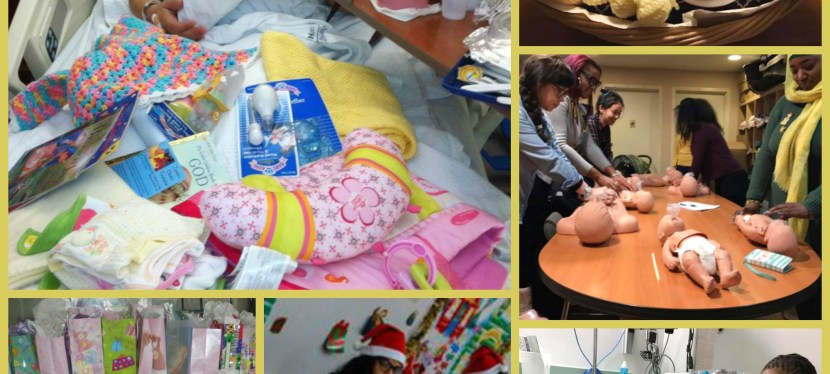 Parents and Babies Receiving Extra Care from Zaenah's Blanket Foundation, Inc.