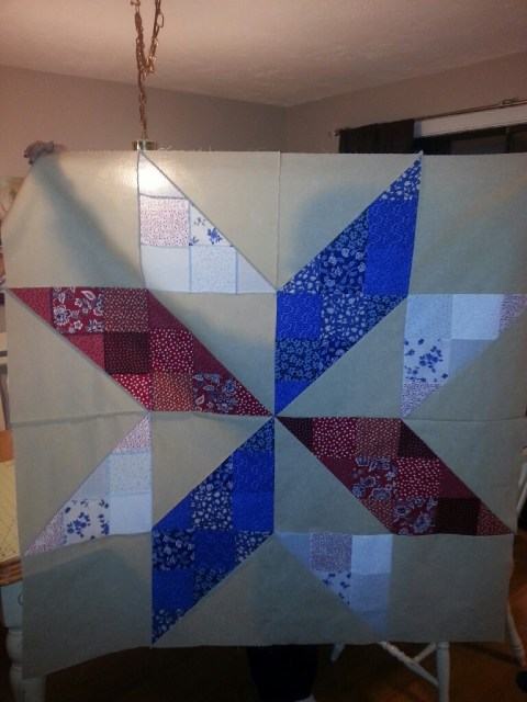 The giant star block was complete!