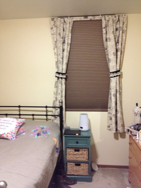 Curtains up and looking classy in my room!