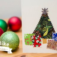DIY Sewing Christmas Cards Tutorial