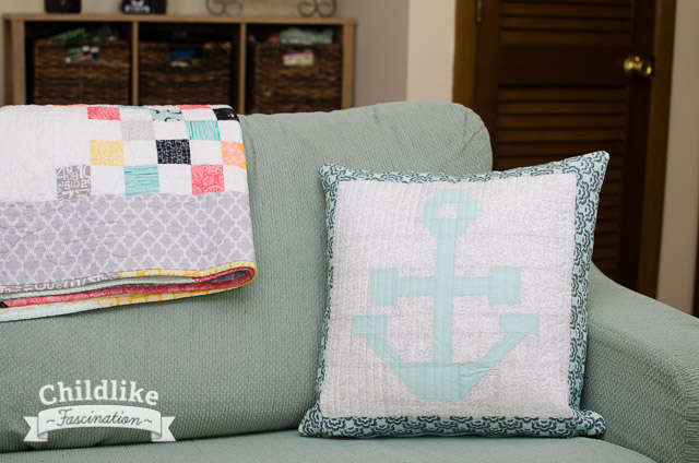 Anchor Pillow Completed