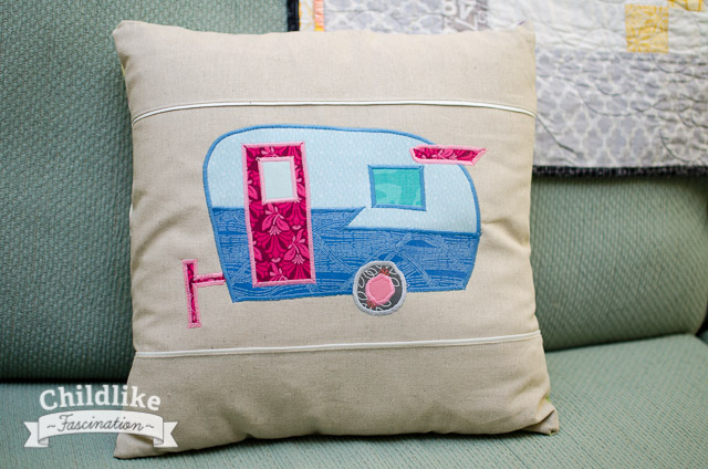Shasta Camper Pillow Finished