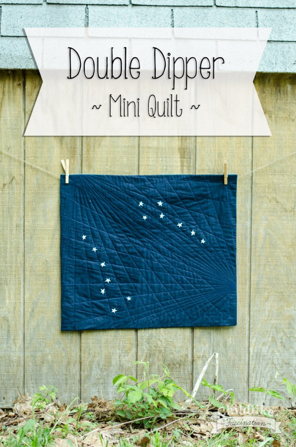 Double Dipper - Star Mini Quilt by Terri Ann from Childlike Fascination with tiny 1in stars!