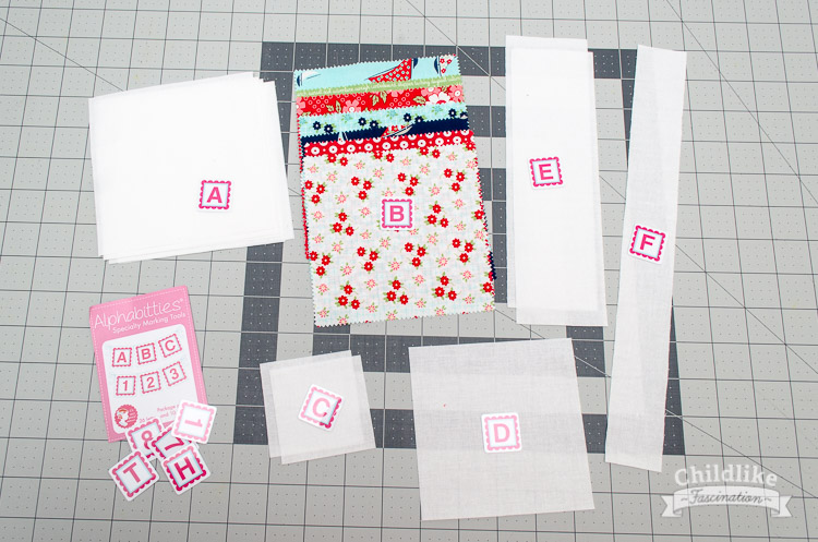 Pieces for Sailboat Quilt Block Sail