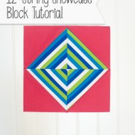 String Showcase Block Tutorial & New Quilt Block Hop