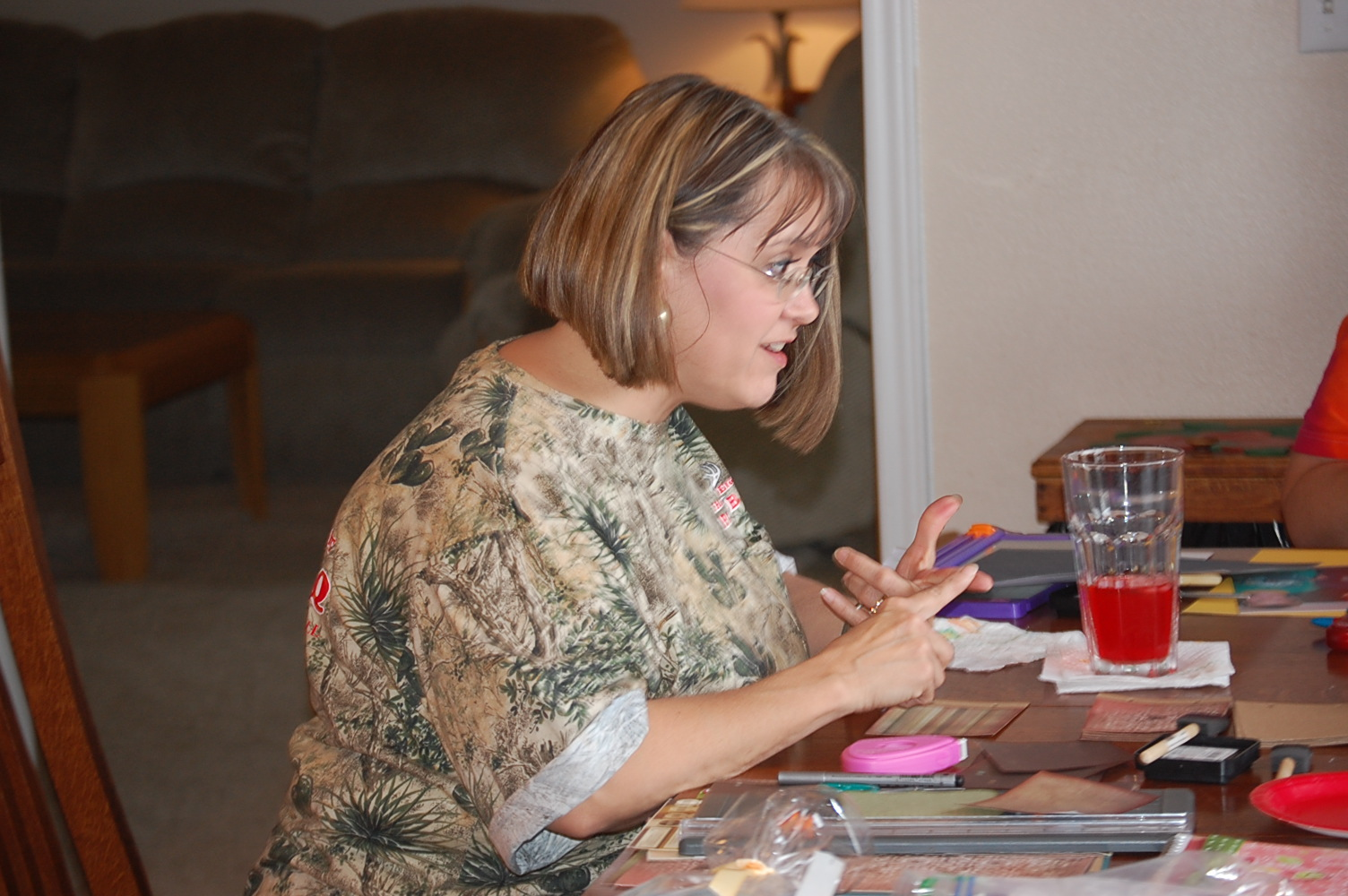 Pam working her magic with paper