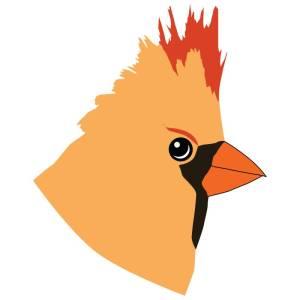 Cardinal Rae - letterer - red bird letters - avitar bio pic